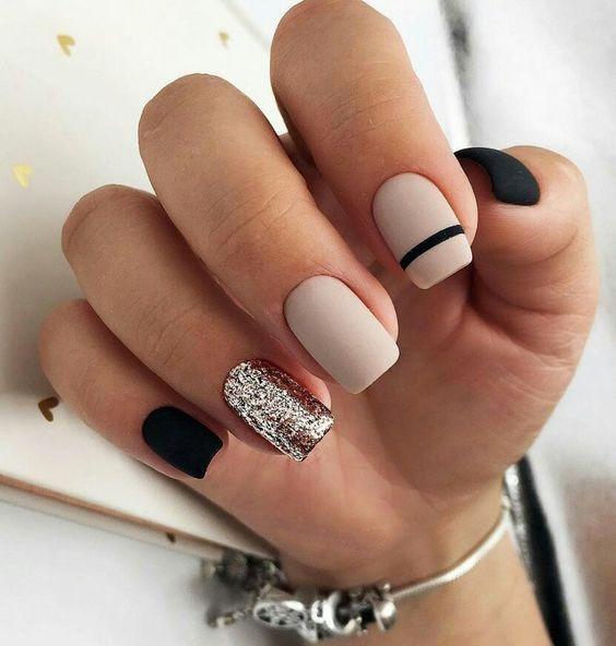 nails; Natural nails; Monochrome nails; Acrylic nails; Sweet nails, wedding ...