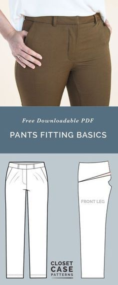 Pants Fitting Adjustments // Best tips for Pants Fitting // Closet Case Patterns...