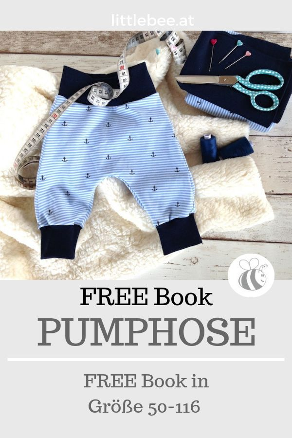 Pumphose FREE Tutorial FREE Sewing Pattern for a Bloomers in Size 50 - 116