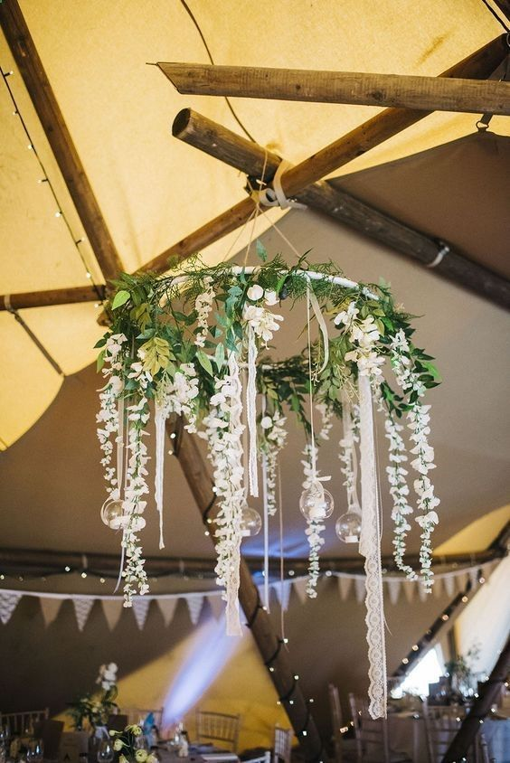 CASE IN LOVE with these 20 hanging wedding decorations - #these #hanging ...