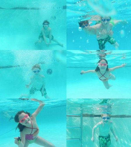 Casual kids underwater photography...