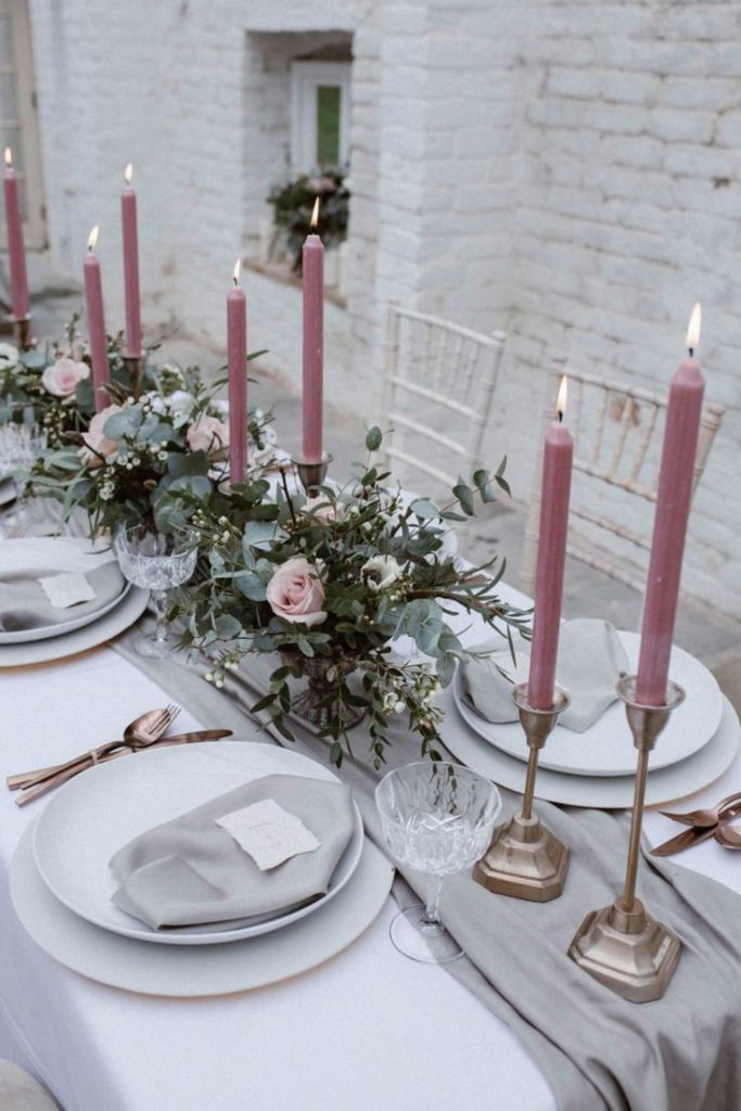 Subtle And Sophitsticated Pastel Wedding Shoot | Was The Table Covered And M ...