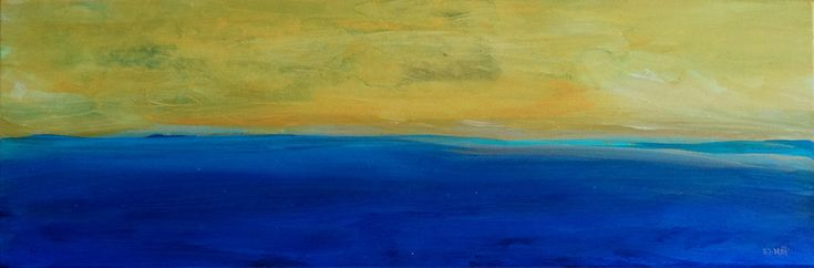 Summer Forever, Sea landscape ,Abstract horizontal painting, Abstract landscape ...