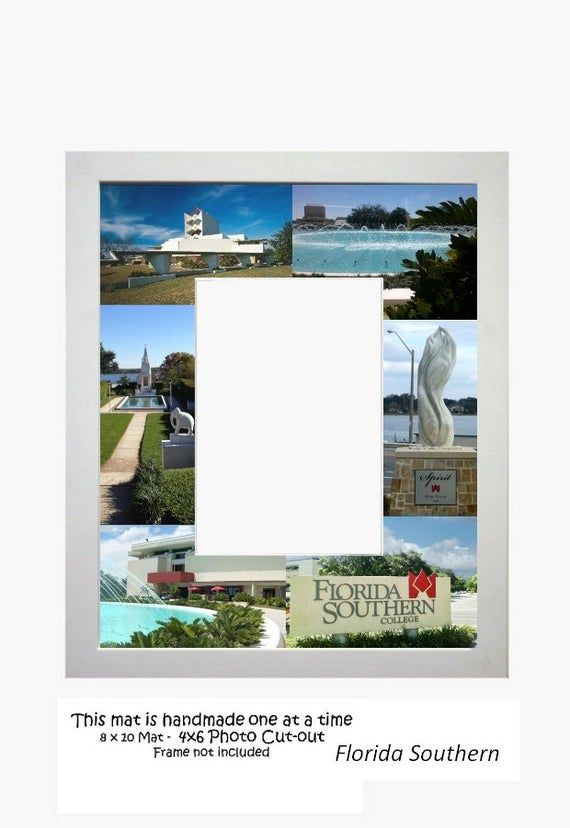 Florida Southern University,Picture Frame, Photo Mat, Unique Gift, Graduation Gi...