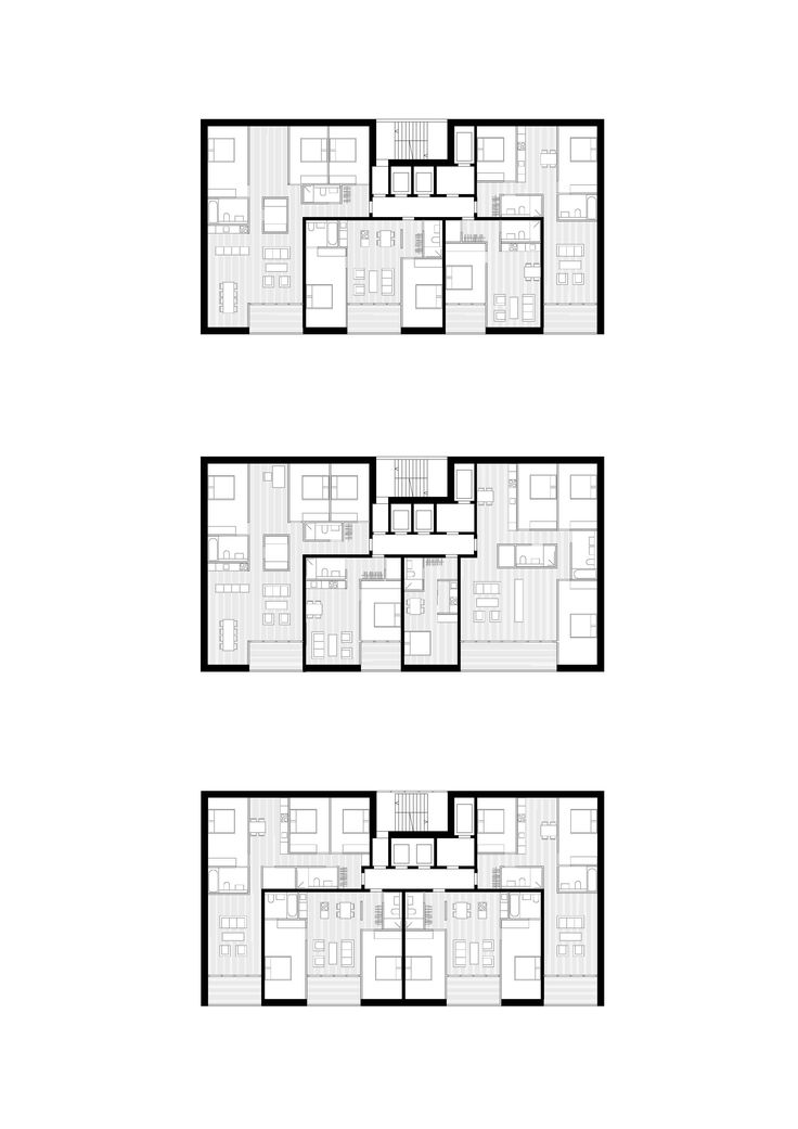 Apartments in the tower - Variations, © be baumschlager eberle ...