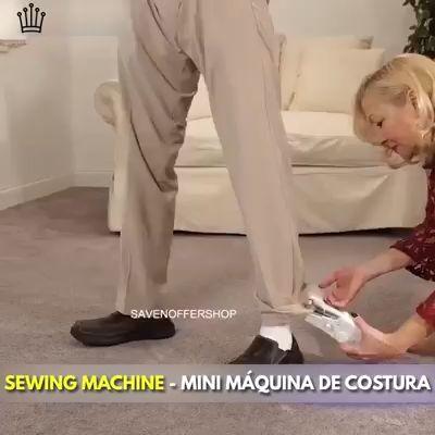 Mini Handheld Manual Sewing Machine Quick Stitch DIY Tool...