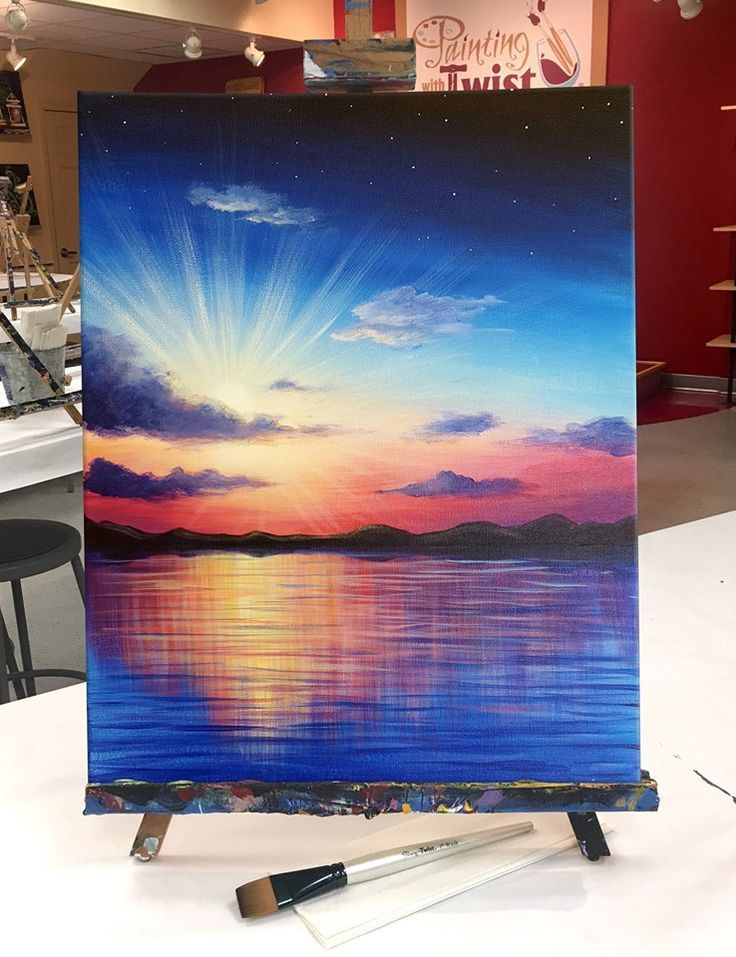 """Gorgeous colors of """"A New Day"""" on Painting with a Twist! ..."""