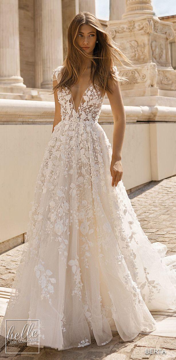 BERTA Wedding Dresses 2019 - Athens Bridal Collection. Sleeveless ball gown wedd...