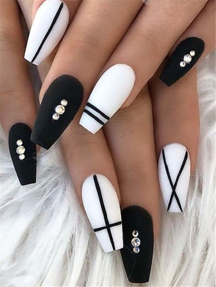 70 Matte Black Coffin Nail Ideas Trend in Cool 2019