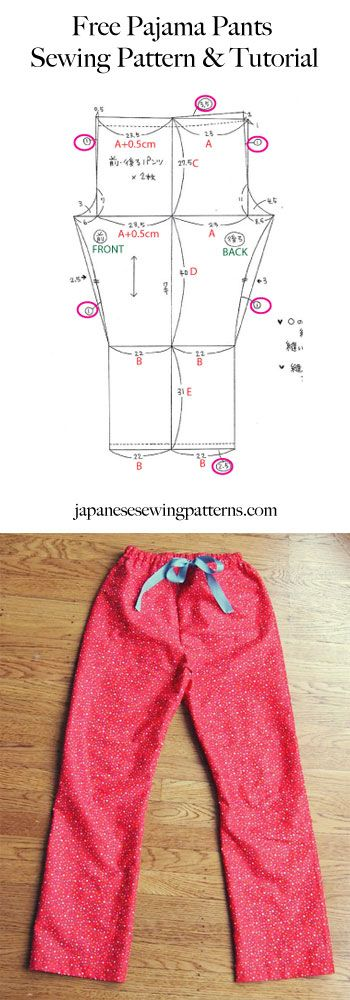 Free pyjama pajama pants sewing pattern Pinterest...