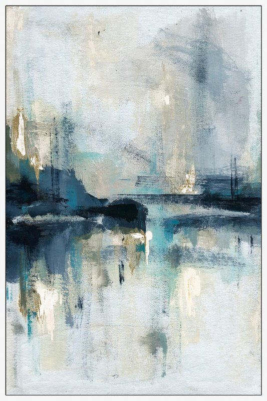 George Oliver 'Senne Flueve' Framed Acrylic Painting Print on Canvas | W...