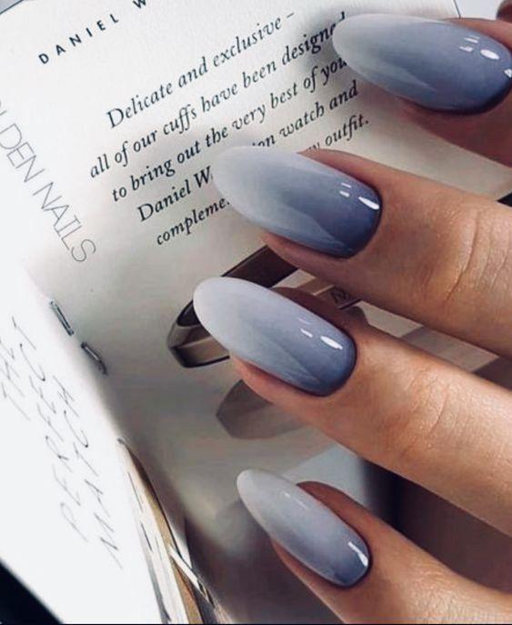 45 Wonderful Ombre Nail Art Design Ideas - #Art #Design #ideas #Nail #ombre #Won...