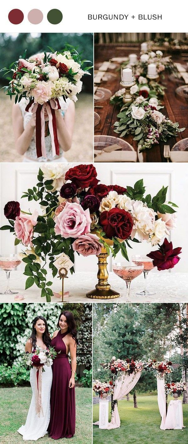 Burgundy and blush wedding color ideas for 2019 #burgand #red # color ideas ...