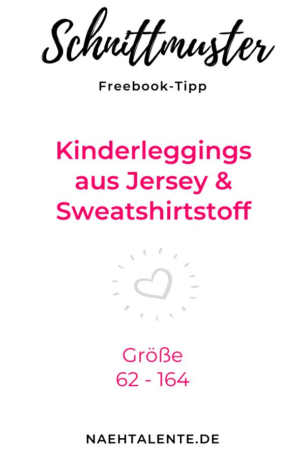 Kids leggings Freebook - Leggings for all the little ones with this Freebook for printing ...