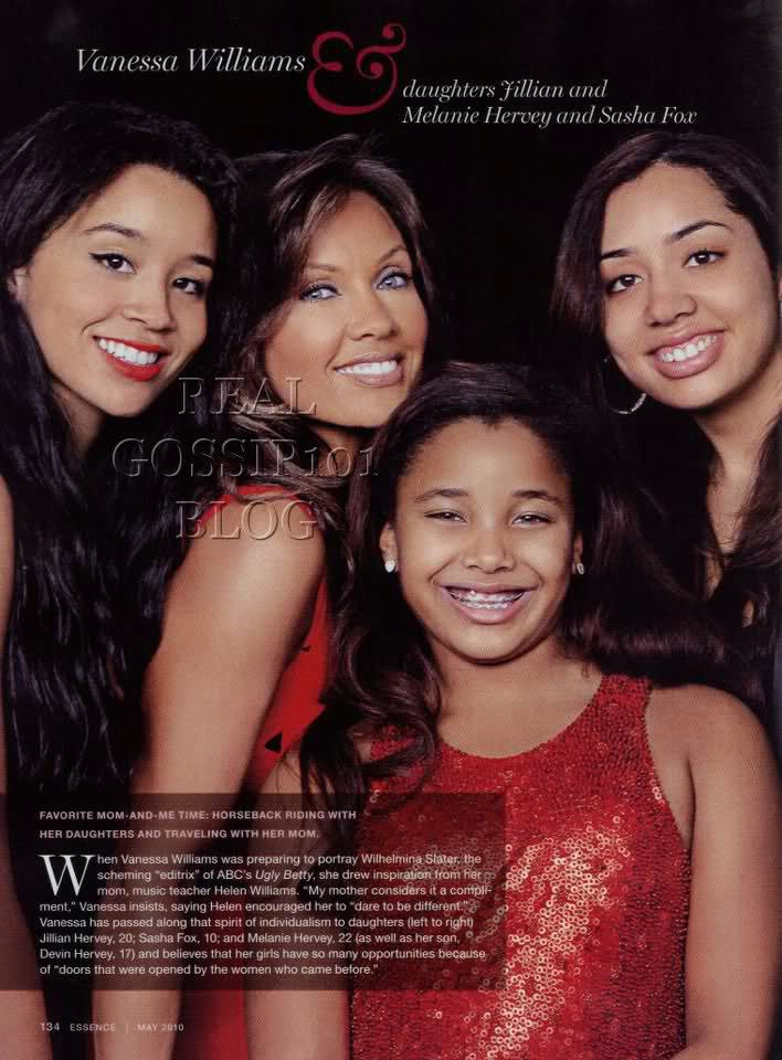 Vanessa Williams and 3 daughters....