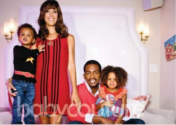 Bill Bellamy, his wife Kristen Baker, and their kids, daughter Bailey,5, and son...