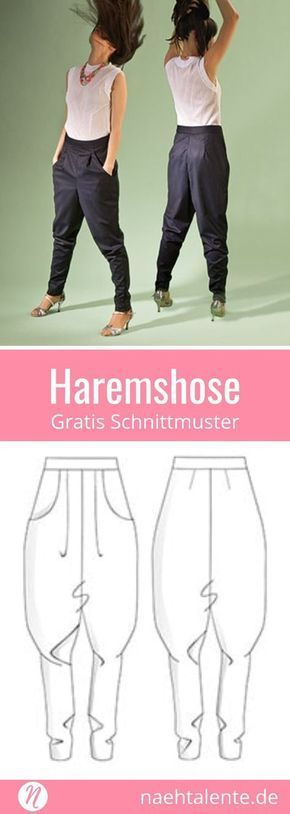 Free pattern for a harem pants for women ❤ Casual look: beque ...