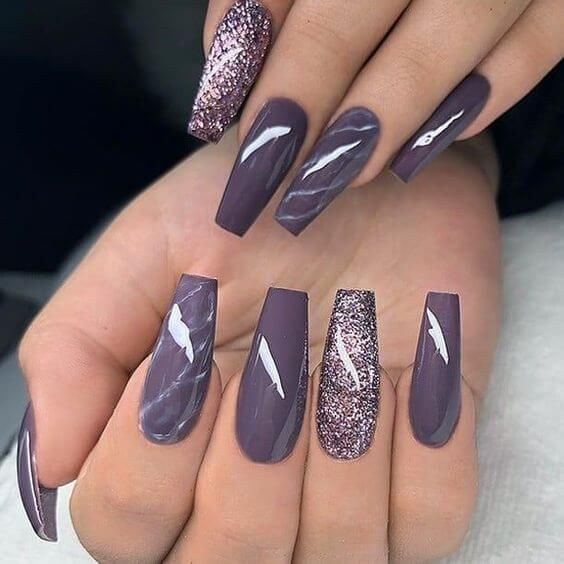 50 Super Coffin Nail Designs That You Can Use for Flip ...