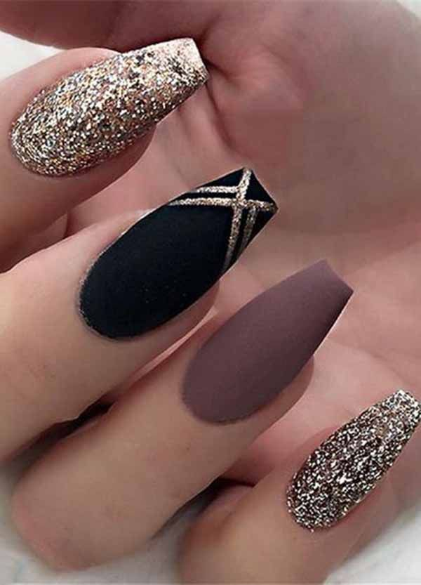 25 Most Impressive Ombre Black Long Acrylic Coffin Nails: Create Your Best ...