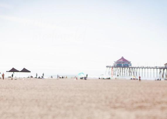 Huntington Beach Pier Photography California Print Coastal Home Decor Large Wall...