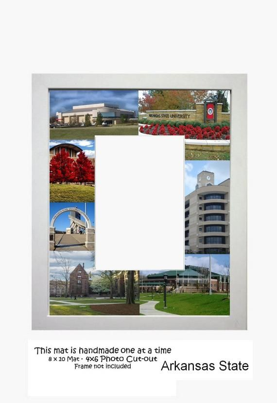 Arkansas State University Picture Frame Photo Mat Unique Gift School Graduation ...