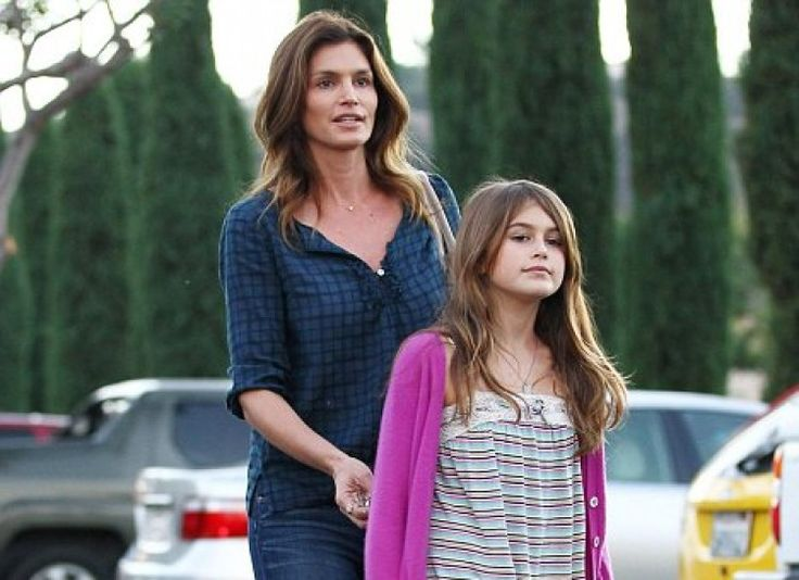 CINDY CRAWFORD AND KAIA Speaking of supermodel children, it is no contest that C...