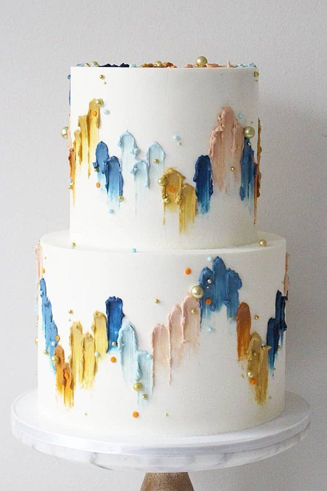 36 Fall Wedding Cakes That WOW ❤ fall wedding cakes white decorated with pearl...