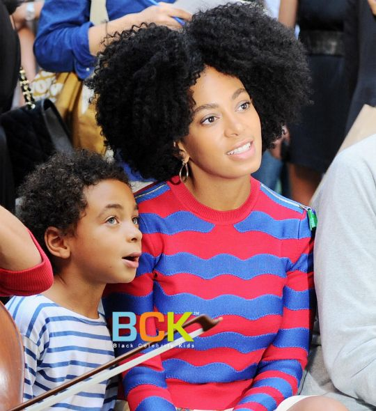 Solange Knowles and Her Son | Singer/DJ Solange Knowles and her son Daniel Julez...