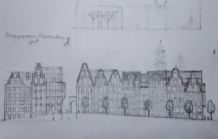 Plan for redevelopment site Belgacomtoren, Ghent, Belgium.