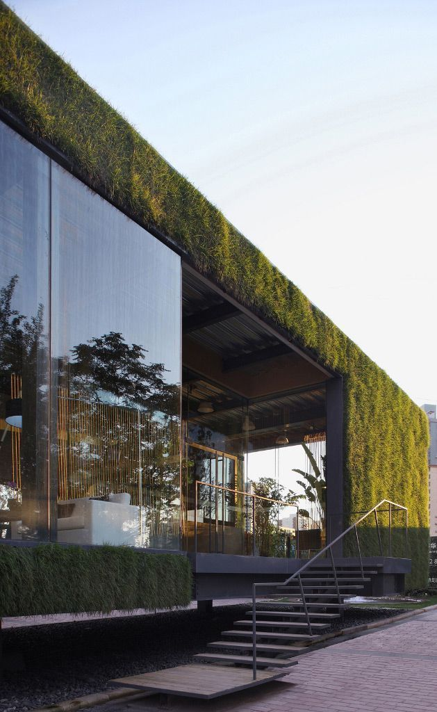CR Land Guanganmen Green Tech Showroom l Located on the Central Lawn ...