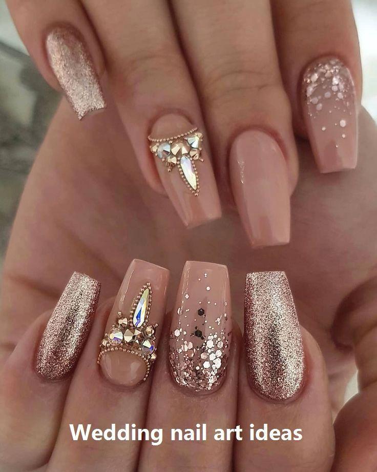 35 Simple Ideas for Wedding Nails Design #weddingnails #nailart ...