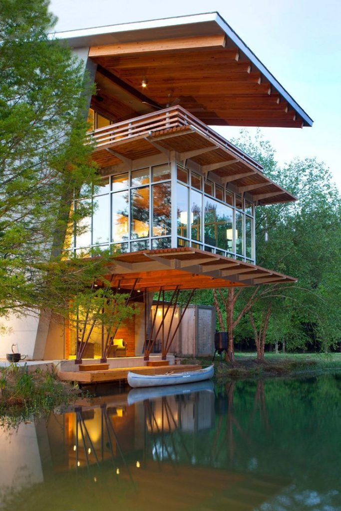 The Pondhouse at Ten Oaks Farm: Angled Sustainable and Energy Efficient Hou ...