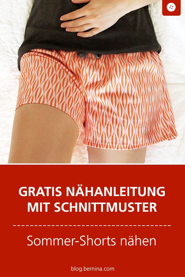 Free sewing pattern for summer shorts #sample pattern #sh ...