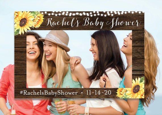 Baby Shower Photo Prop, Landscape Photo Prop Frame, Rustic, Bridal Shower Prop, ...