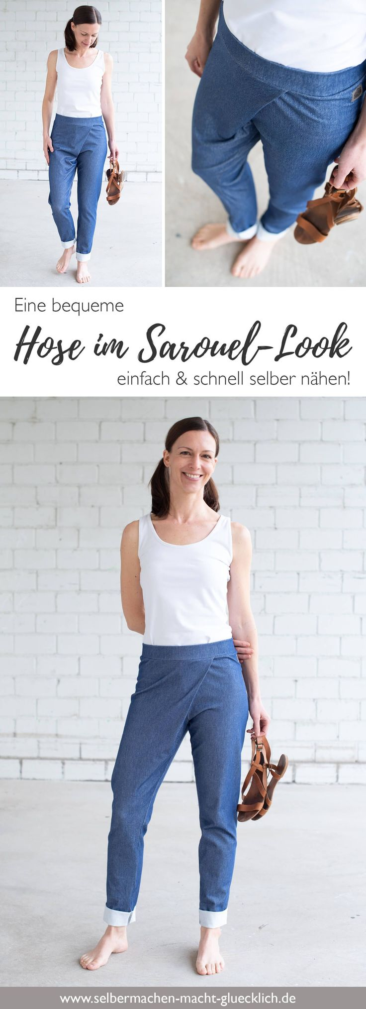 It's so easy to get a pair of casual pants in a sarouel look! In my nook ...
