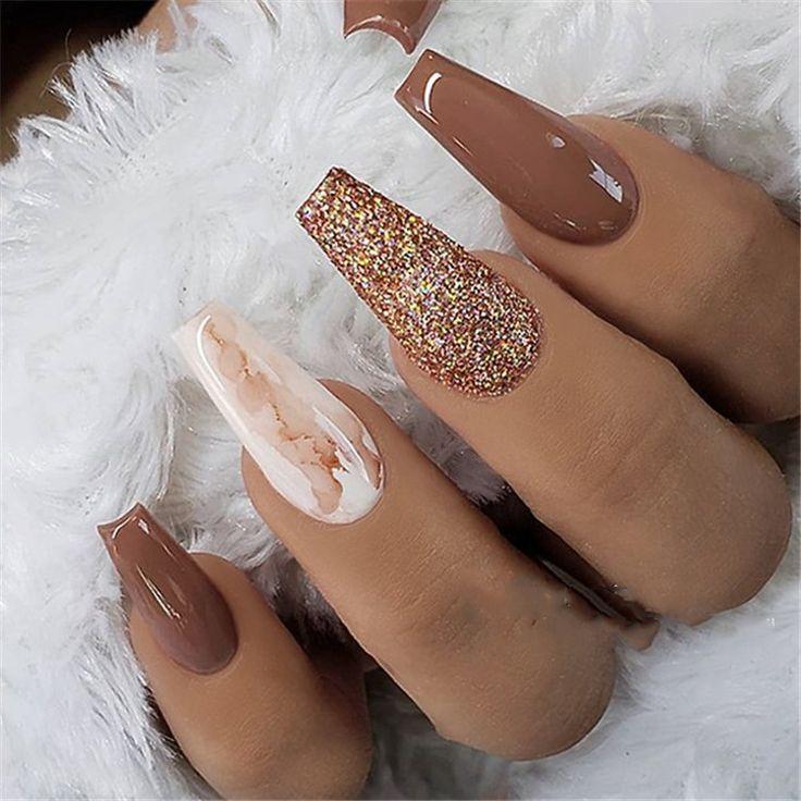 35 + 2019 Hot Fashion Coffin Nail Trend Ideas # Acrylic Nails ...