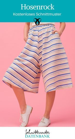 Trouser skirt Sewing for women Clothing free sewing patterns Free sewing ...