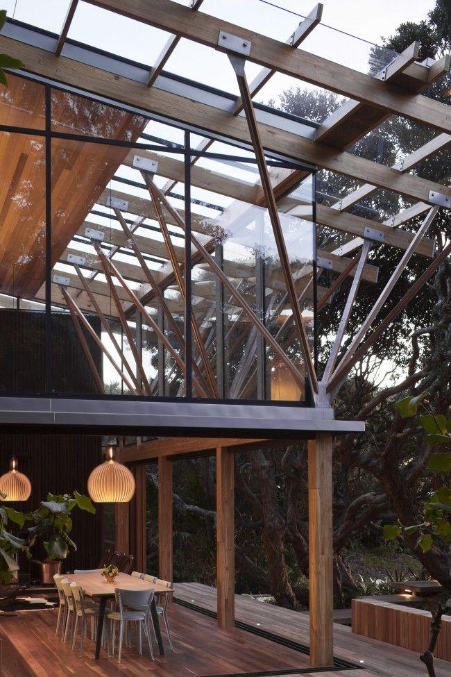 House among the Pohutukawa trees | Designhunter – Sustainable Architecture wit...