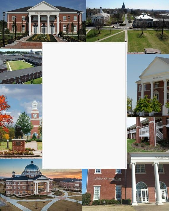 Union University, Picture Frame, Photo Mat, Unique Gift, Graduation Gift, Person...