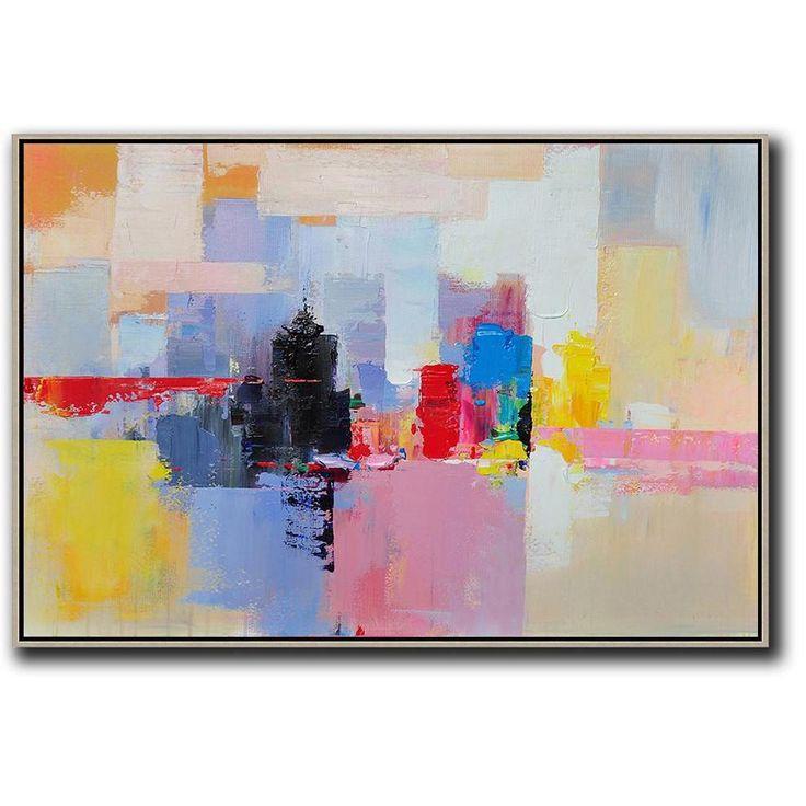 Horizontal Horizontal Abstract Landscape Art #L31C #Abstract #acrylic-painting #...