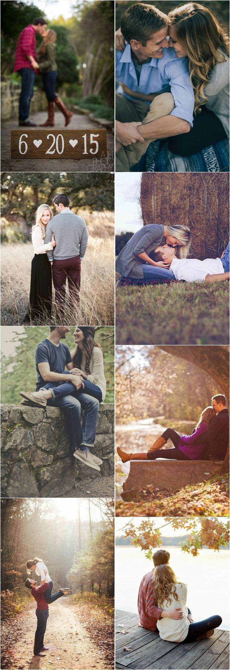 Autumn engagement photos shoot and pose ideas / www.deerpearlflow ... #dee ...