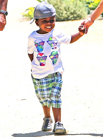 Louis Bullock, also known as the most stylish kid in preschool, shows off his su...