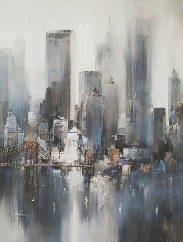Simple Acrylic Painting Ideas: Abstract Landscape - #Abstract #Acrylic #Easy #Idea ...