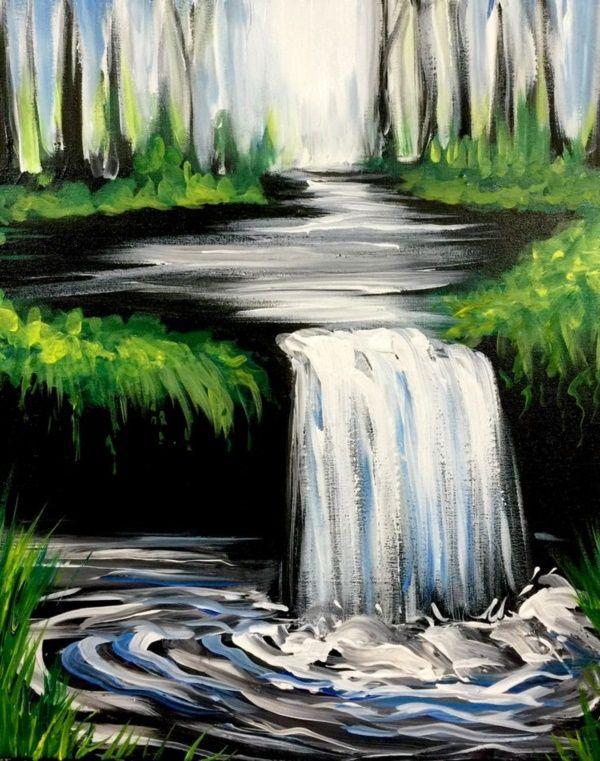 42 Simple Acrylic Canvas Painting Ideas for Beginners Angel Pelillo#Acrylic #Ang...