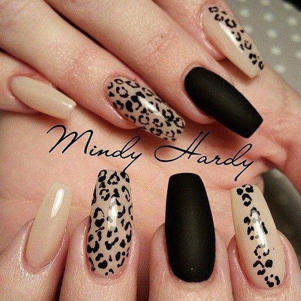 50 Stylish Leopard and Cheetah Nail Designs #designs #bargain nail #leopard #s ...
