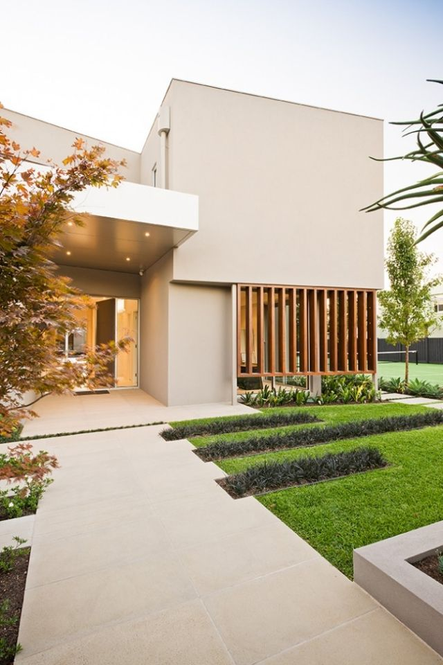 House front Modern architectural ideas for front garden design ...
