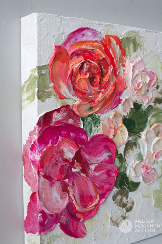 Beautiful Floral Paintings - Artist Melissa McKinnon - Abstract Floral Paintings and Canvas Prints