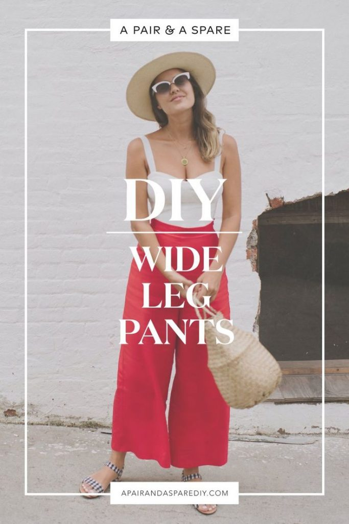 A Pair & A Spare   DIY Wide Leg Pants...