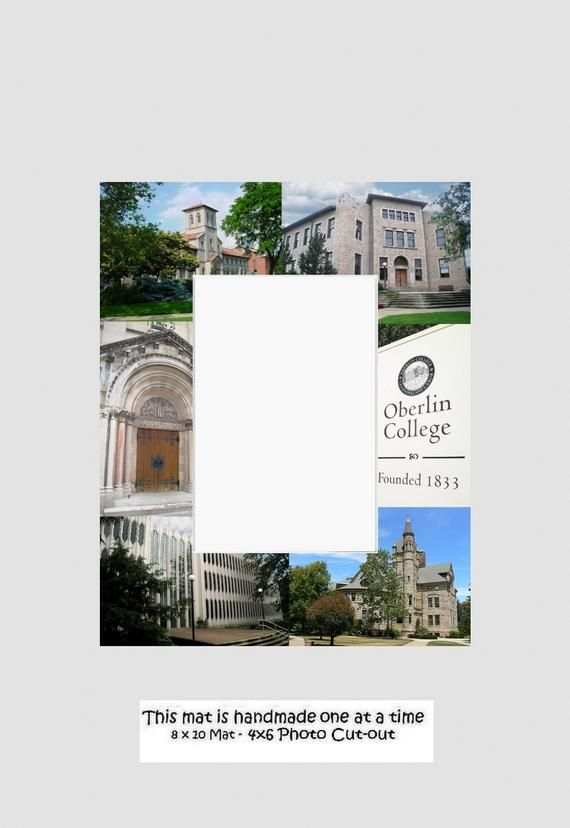Oberlin College Graduation Gift, Picture Frame, Photo Mat, Unique, School, Perso...