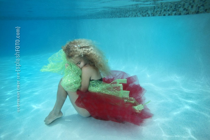 {cool blue} + {underwater photography} Sitting at the bottom of a cool blue pool...